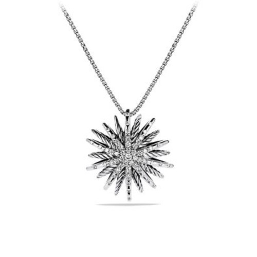 Starburst Medium Pendant with Diamonds on Chain