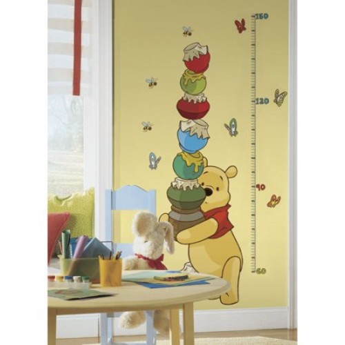 RoomMates Winnie the Pooh - Pooh & Friends Peel and Stick Metric Growth Chart Wall Decals