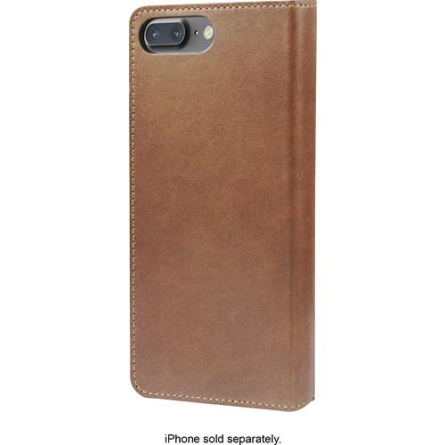Nomad - Leather Folio Case for Apple iPhone 8 Plus - Brown