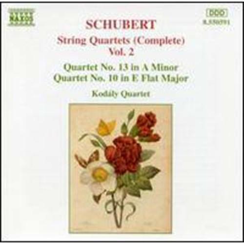 Schubert: String Quartets (Complete), Vol. 2 Kodly Quartet Audio Compact Disc