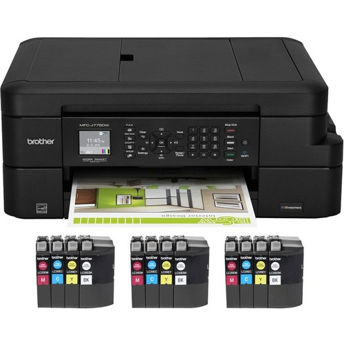 Brother MFC-J775DWXL Inkjet Multifunction Printer - Color - Plain Paper Print - Desktop