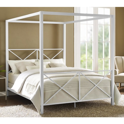 Rosedale Metal Canopy Queen Bed - Dorel Home Product