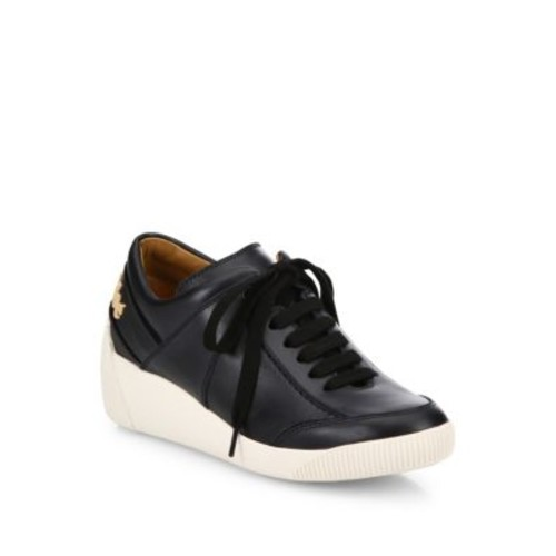SEE BY CHLOÉ Duncan Leather Wedge Sneakers