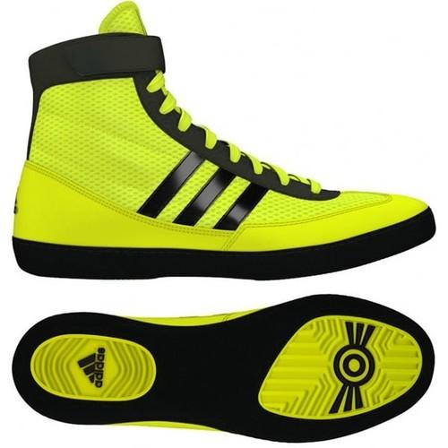 Adidas Combat Speed 4 Wrestling Shoes - Solar Yellow/Black