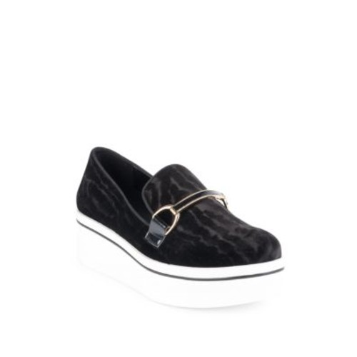 STELLA MCCARTNEY Binx Chain Velvet Platform Loafers
