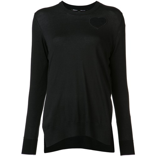 PROENZA SCHOULER Heart Embroidered Knitted Top