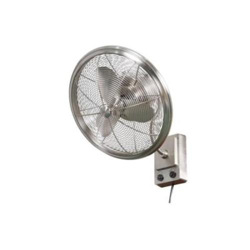Home Decorators Collection Bentley II 18 in. Indoor/Outdoor Brushed Nickel Oscillating Wall Fan