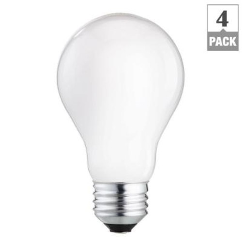 Philips 100 Watt Equivalent Energy Savings Halogen A19 Long Life Light Bulb (4-Pack)