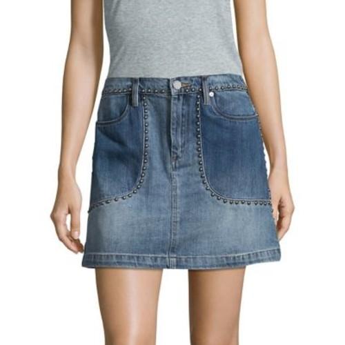 Stud Cotton Mini Skirt