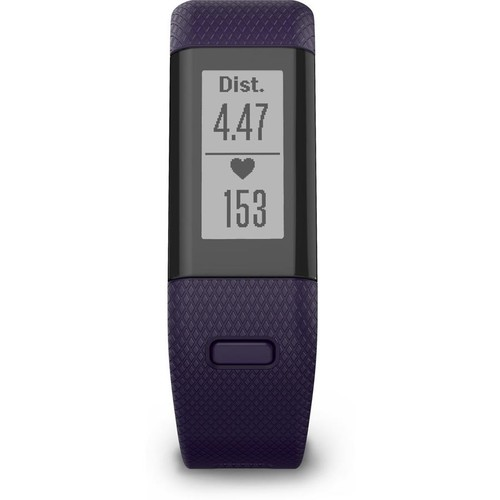 Garmin vivosmart HR+ (Imperial purple - regular fit) Water-resistant GPS activity tracker with built-in heart rate monitor
