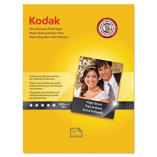 KODAK KOD8366353 Ultra Premium Photo Paper, 10 mil, High-Gloss, 8-1/2 x 11, 25 Sheets/Pack