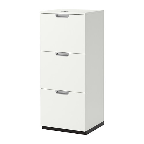 GALANT File cabinet, black-brown
