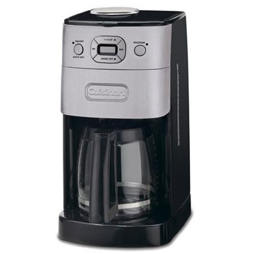 Cuisinart DGB-625BC Grind-and-Brew 12-Cup Automatic Coffeemaker, Brushed Metal [12-Cup, Glass]