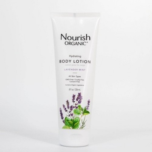 Nourish Organic Body Lotion, Lavender Mint 8 fl Oz
