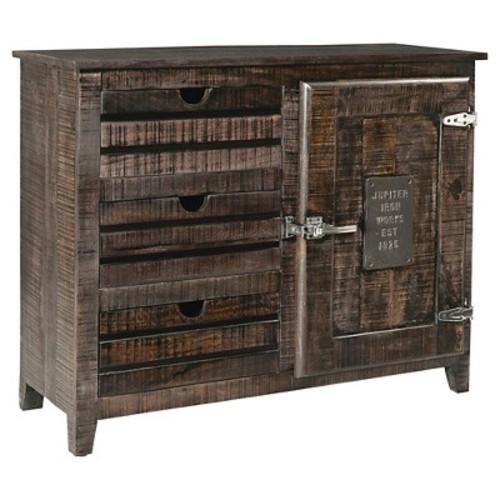 Bada Vintage Cabinet - Dark Brown - Christopher Knight Home