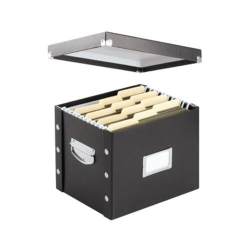Snap-N-Store Letter Size File Box, Black