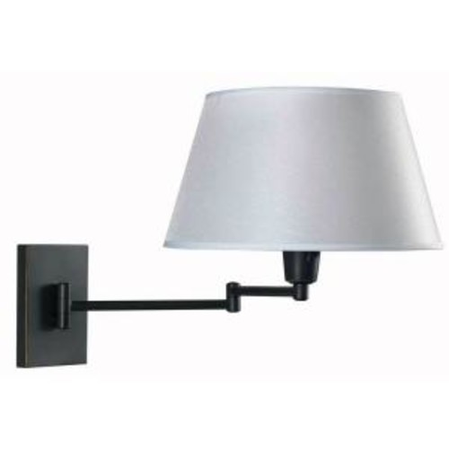 Kenroy Home Simplicity 1-Light Oil-Rubbed Bronze Wall Swing Arm Lamp