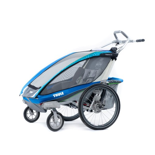 Thule Active with Kids Chariot CX 2 Multi-Sport Double Child Carrier with Strolling Kit - Blue
