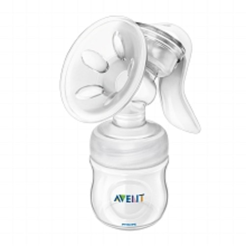 Philips Avent BPA Free Natural Breast Pump Manual with 4 oz Bottle SCF330/20