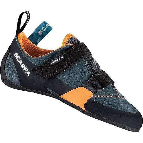 SCARPA Men's Force V Climbing Shoe [Mangrove/Papaya, 43 EU/10 M US]