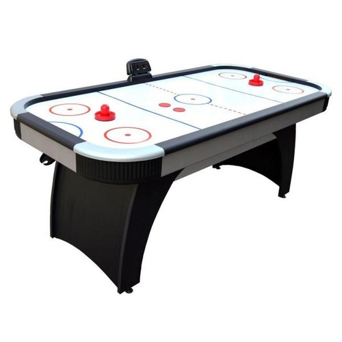 Hathaway Silverstreak 5 ft. Air Hockey Game Table for Family Game Rooms with Electronic Scoring