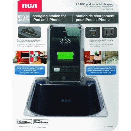 RCA iPhone USB Charging Station - PCHSTAB1R