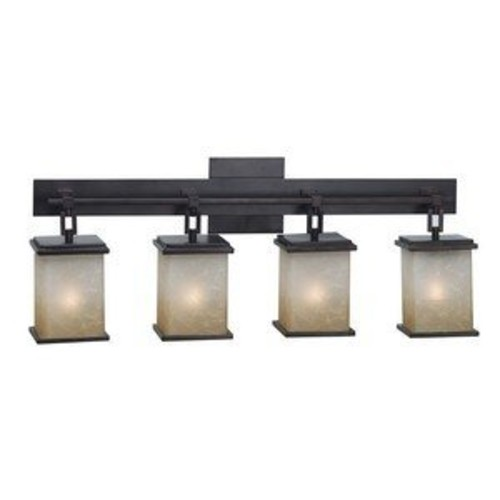 Kenroy Home Plateau 4-Light Vanity 03375 - 24W in. oil-rubbed bronze