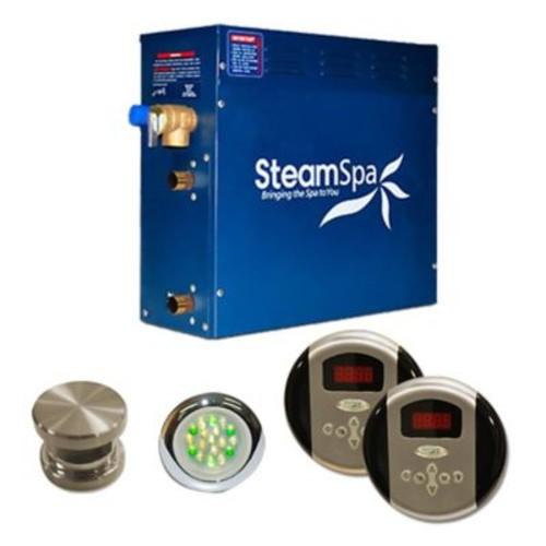 Steam Spa SteamSpa Royal 4.5 KW QuickStart Steam Bath Generator Package; Brushed Nickel