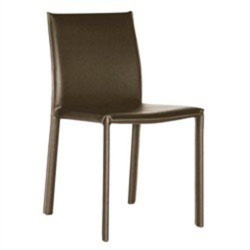 Baxton Studio Leather Dining Chair, Set of 2, Espresso Brown [brown]