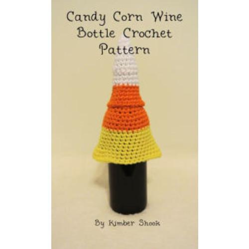 Candy Corn Wine Bottle Cozy Crochet Pattern