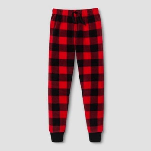 Komar Kids Toddler Boys' Buffalo Check Fleece Pajama Pants - Red Check