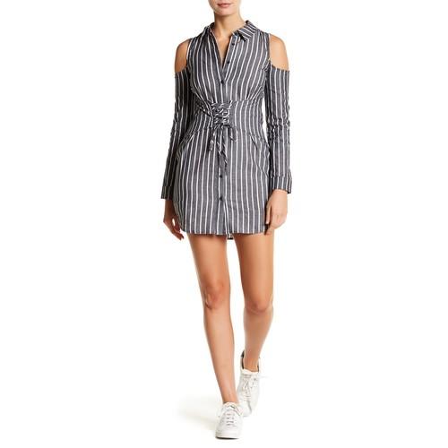 Menswear Stripe Corset Dress