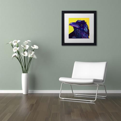 Pat Saunders-White 'Corvus' Matted Framed Art