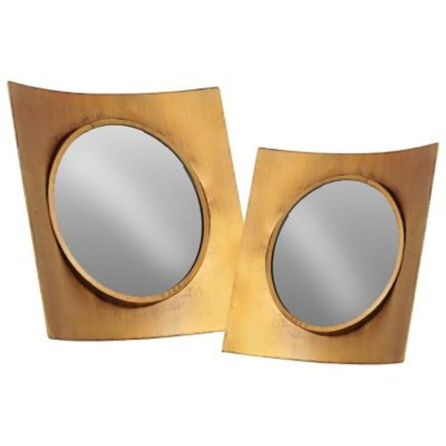 Urban Trends 2 Piece Metal Wall Mirror Set; G