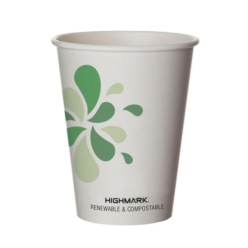 Highmark Renewable Hot Drink Cups, 12 Oz, Multicolor, Pack Of 500