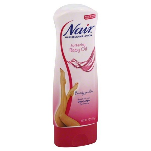 Nair Hair Remover Lotion, Softening Baby Oil, 9 oz (255 g)