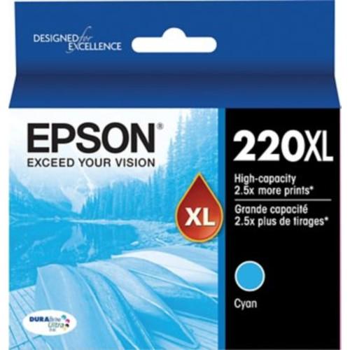 Epson DURABrite Ultra 220XL Cyan Ink Cartridge, (T220XL220-S), High Yield