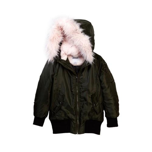 Faux Shearling & Faux Fur Coat (Big Girls)