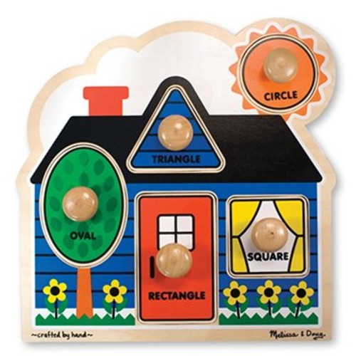 Melissa & Doug 2053 Shapes Knob Wooden Puzzle [Standard Version]