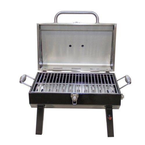 Char-Broil Stainless Steel Portable Liquid Propane Gas Grill [Stainless Steel Portable Grill]