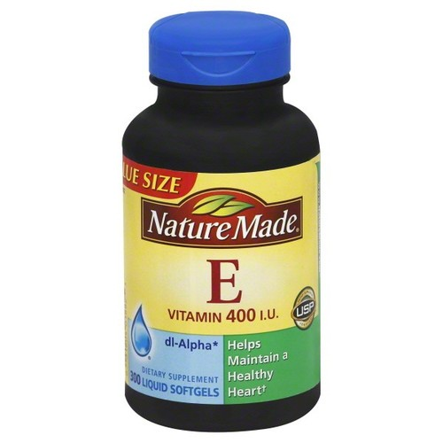 Nature Made Vitamin E, 400 IU, Liquid Softgels, Value Size 300 softgels