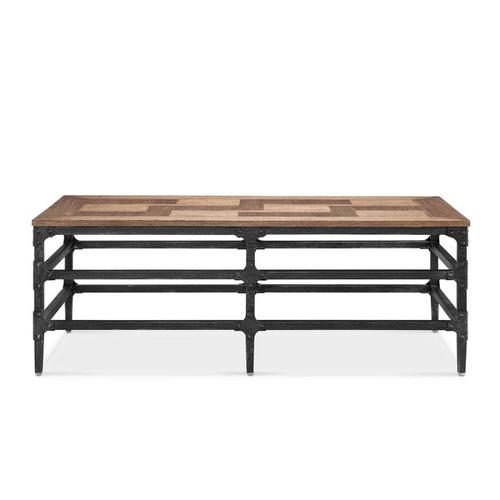 Dylan Light Industrial Umber and Gun Metal Rectangular Coffee Table