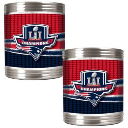 NFL New England Patriots Super Bowl LI Champions Can Holders (Set of 2)