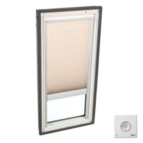 VELUX Lovely Latte Solar Powered Light Filtering Skylight Blinds for FS S01 Models