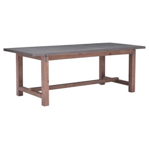 ZUO Greenpoint Gray and Distressed Fir Dining Table
