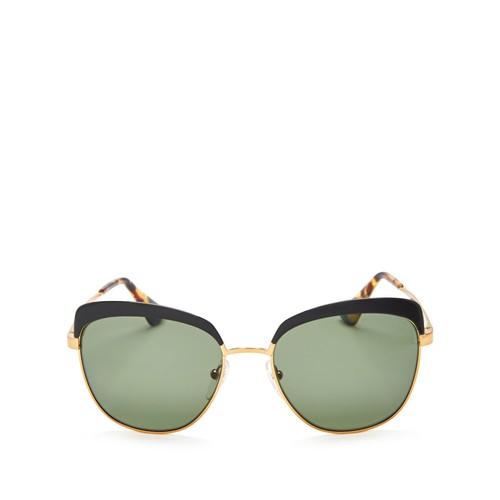 PRADA Polarized Square Sunglasses, 55Mm