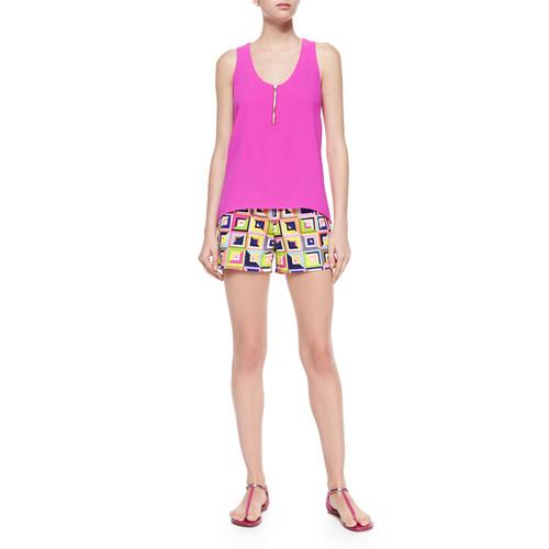 Corbin Geometric-Print Shorts