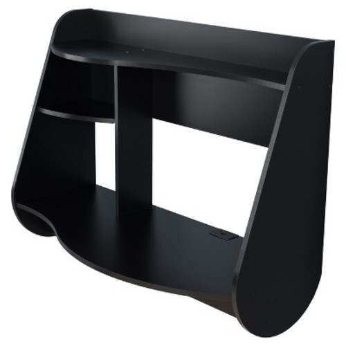 Kurv Floating Desk - Black - Prepac