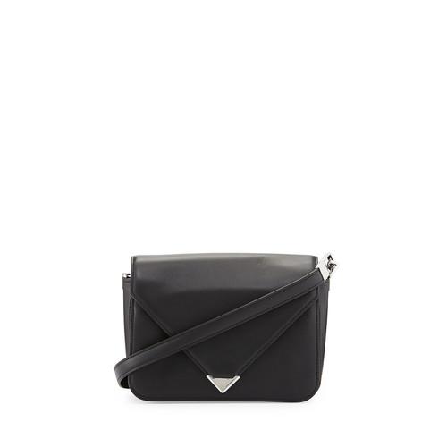 ALEXANDER WANG Prisma Small Leather Shoulder Bag, Black