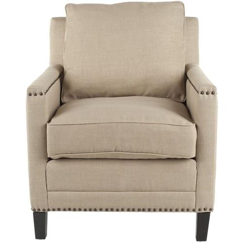Safavieh Nail-head Straw Cotton Club Chair